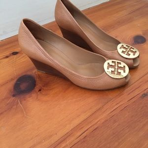 Tory Burch Open Toe Wedge shoes